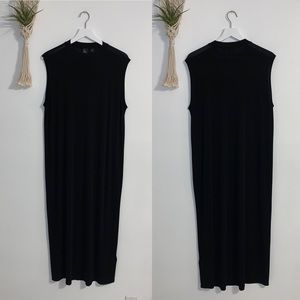 Eileen Fisher The Fisher Project Black Maxi Dress